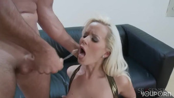 Stylist spread on anal fuck model with big tits and ass at the studio