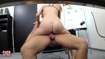 Secretary hiring through sex in the office