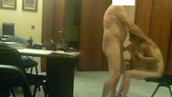Real video of fucking an old boss and a young secretary
