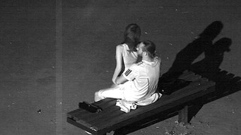 Lovers fuck on a bench in the park, not noticing a hidden camera