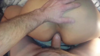 Lover fucks his wife in the ass, and the husband in the mouth and takes it on camera