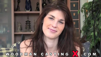 Mandy Slim fucks Pierre Woodman at the casting and parking