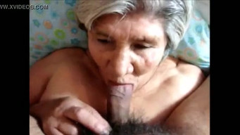Compilation of sperm shots on wrinkled faces of old women