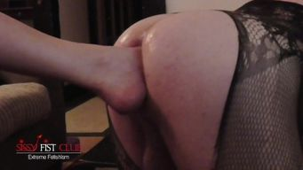 femdom Domina Footing Handballing Sissy Assfuck slave In High Heel red Shoes